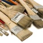 Used Paint Brushes — Stock Photo