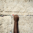 Making a Wish at the Wailing Wall — Stock Photo