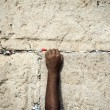 Making a Wish at the Wailing Wall — Stock Photo #22432781