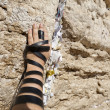 Phylacteries Wrapped Hand on the Western Wall — Stock Photo