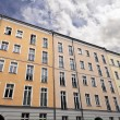 East Berlin Low Angle Building and Cloudy Sky — Stock Photo
