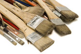 Used Paint Brushes — Stock Photo
