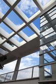 Pergola & Elevator Shaft Architecture — Stock Photo