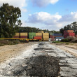 Stock Photo: Road to Cargo Containers Storage