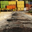 Road to Cargo Containers Storage — Stock Photo