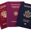 Triple Nationality - American, German & Russian — Stock Photo
