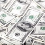 One Hundred Dollar Bills Background - Mess — Stock Photo #22443363