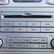 Car Radio plus CD Player Close Up — Stock Photo