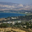 A view on the southern edge of Sea of Galilee - Stock Photo