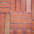 Red Brick Tiled Floor Background - Close Up - Foto Stock
