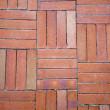 Red Brick Tiled Floor Background - Foto Stock