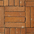 Sunny Red Brick Tiled Floor Background - Close Up - Foto Stock