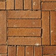 Sunny Red Brick Tiled Floor Background - Close Up — Stock Photo #22444589