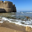 Acco's City Wall & Seashore — Stock Photo