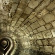 Templar Tunnel in Acco — Stock Photo