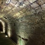Templar Tunnel in Acco — Stock Photo