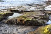 Rocky Beach at Dusk — Stock Photo