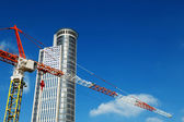 Skyscraper top & Crane Excerpt — Stock Photo