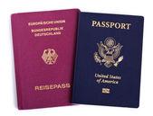 Double Nationality - American & German — Stock Photo