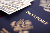 Cash & Passports — Stock Photo