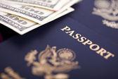 Cash & Passports — Stock Photo