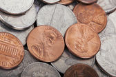 USA Coins Pile Background — Stock Photo
