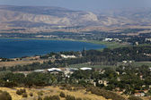 A view on the southern edge of Sea of Galilee — Stock Photo