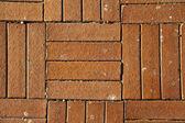 солнечный красного кирпича кафельный пол фон - закрыть вверх — Стоковое фото