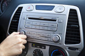 Car Stereo - Adjusting the Volume — Stock Photo