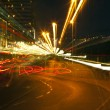 Zoom Smeared Urban Lights - Stock Photo