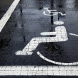 Handicapped Parking Space at Winter - Stock Photo