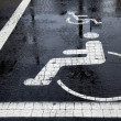 Handicapped Parking Space at Winter — Stock Photo