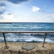 Sea Behind Banister — Stock Photo