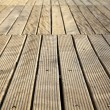 Diminishing Wooden Deck — Stock Photo