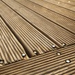 Diagonal Wooden Deck - Stock Photo