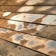 Wet Wooden Deck - Stock Photo