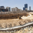 Large Tower Complex Construction Site Panorama - Stock Photo