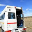Minibus on Rural Roadside — Stock Photo
