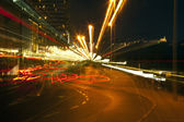 Zoom Smeared Urban Lights — Stock Photo