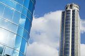 Skyscraper & Part of Office Building — Stock Photo