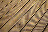 Diagonal Wooden Deck — Stock Photo