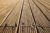 Deck de madera atornillada — Foto de Stock