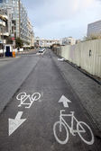 Bicycle Lane In Tel-Aviv — Stock Photo