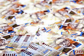 One Hundred Shekels Bills Messy Background — Stock Photo