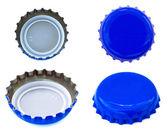 分離の青い金属キャップ — ストック写真
