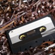 Blank Recordable Audio Cassette on Magnetic Tape — Stock Photo