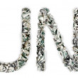 Fund - Crimped 100 dollar Bills — Stock Photo #22468087