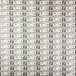 126 Money Notes of 100 American Dollars — Stock Photo