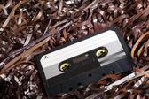 空白可刻录音频盒式磁带在磁带上 — 图库照片