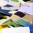 Torn Paper Banner on Torn Paper Background — Stock Photo